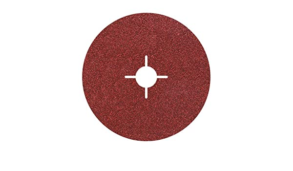 Wolfcraft 2455000 125mm Fibre Discs with 24//40// 60//100-Grit