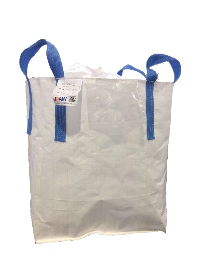 JDAW Duffle Top Spout Bottom FIBC Bag Bulk Bag Ton Bag , 35 L x 35 W x 40 H, 2200 lbs