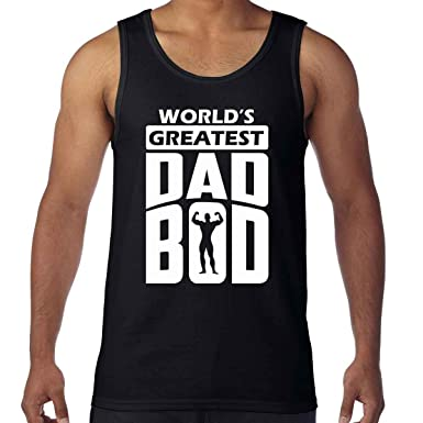 3b5bb30d0 AW Fashions World's Greatest Dad BOD - Funny Men's Tank Top (Small, ...