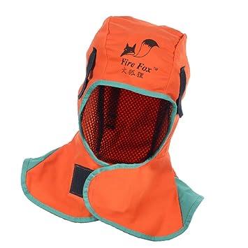 sharplace soldadura casco Capucha Cuello soldador sombrero retardante de llama gorra 2 colores: Amazon.es: Bricolaje y herramientas