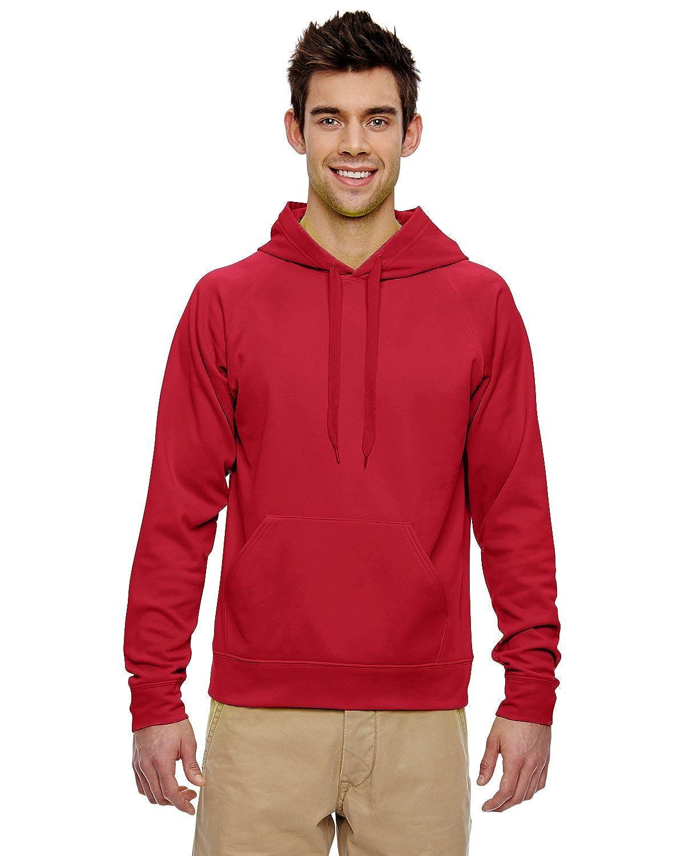 pf96 Jerzees大人用Jerzees Sport Techフリースフード付きプルオーバースウェットシャツ B00N8JMZ44 レッド(True Red) 4L 4L|レッド(True Red)