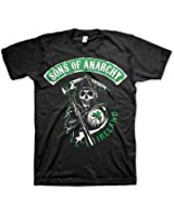 Officially Licensed Merchandise Sons Of Anarchy Ireland T-Shirt (Black)