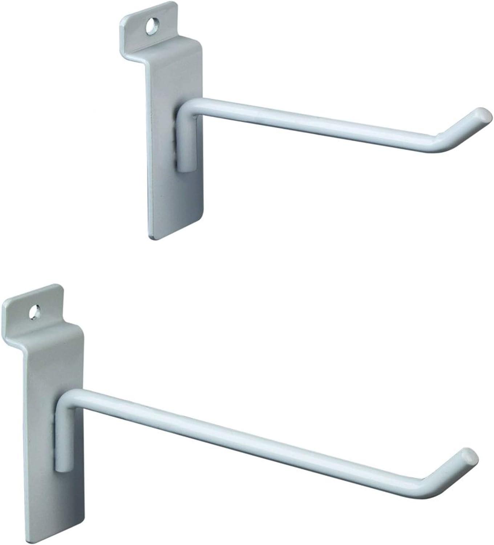 1 White Slatwall Hooks Slatwall Display Panel Hangers 6 Pack