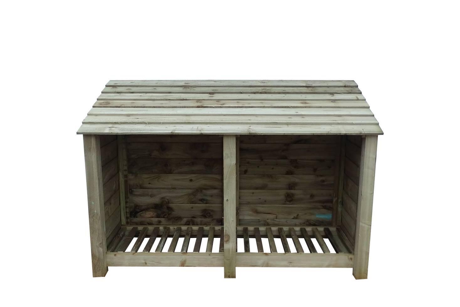 4 ft Heavy Duty tratada a presión de fresno Log Store - Caseta para leña y madera - Accesorio de: Amazon.es: Jardín