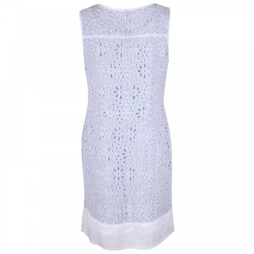 5fea90e841d Alice Collins Cutout Floral Detail Sleeveless Dress 18 Blue Multi   Amazon.co.uk  Clothing