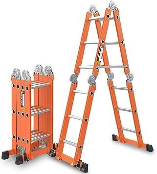 Escalera De Aluminio Multiusos, Escalera De Extensión Plegable Para Servicio Pesado3.7M Sostiene Hasta 150 Kg Certificación EN 131 (Color : 5mm): Amazon.es: Bricolaje y herramientas