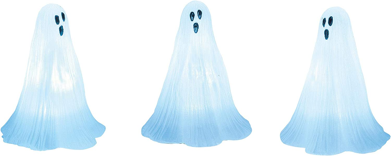 Department 56 Village Cross Product Accessories Halloween Ghosts Lit Figurine Set, 2.75 Inch, Blue