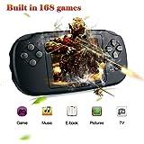 """XinXu Consola de Juegos de Mano, Consola 2.8 """"LCD PVP Plus Juego de Jugador Clásico Consola de Juegos de Mano USB Carga Regalo para Niños (Negro)"""