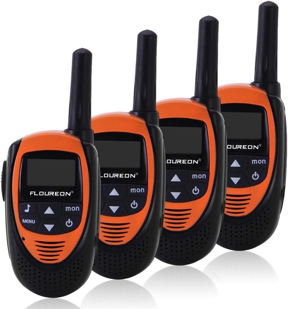 Floureon 4 Packs 22 Channel Walkie Talkies Two Way Radios