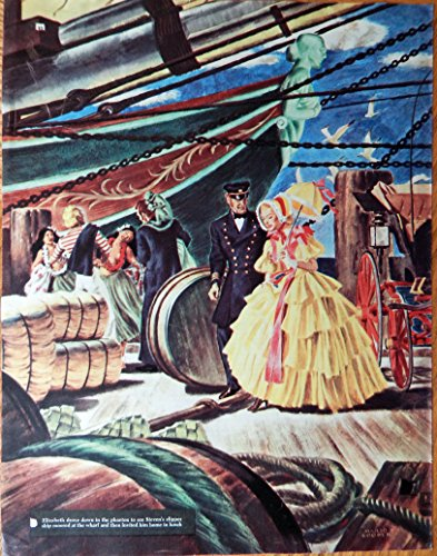 mario-cooper-painting-40s-color-illustration-print-art-people-on-shipparty-oringial-vintage1947-coll