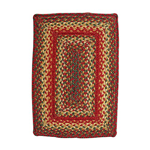 Homespice Rectangular Placemat Jute Braided Rugs, 13-Inch by 19-Inch, Cider Barn