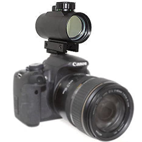 Astromania 1X40RD Reflex Red Green Dot Sight Lighted Scope Mount to fix to  a DSLR Camera Flash Type Connection