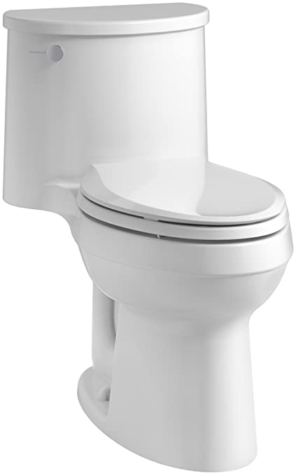 743e1d0b2aa Image Unavailable. Image not available for. Color  KOHLER K-3946-0 Adair Comfort  Height One-Piece Elongated 1.28 GPF Toilet