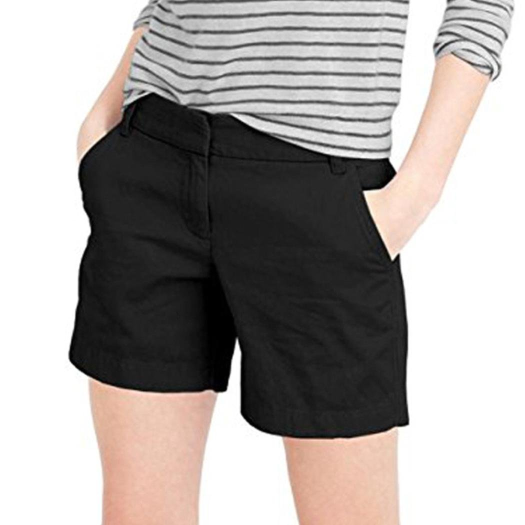 Vintage Chic Khakis Black Womens Bermuda Shorts 16 Average Runs Small Waist 31.5 Fine Quality Clothing, Shoes & Accessories Shorts