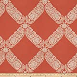 Fabricut 0411847 Jacquard Saint Maurice Terra Cotta Fabric by The Yard