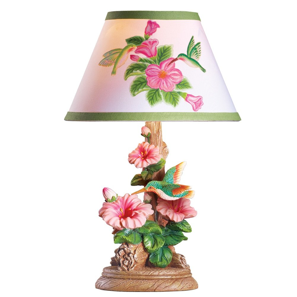 Amazon Hummingbird And Flowers Table Lamp Pink Kitchen Dining