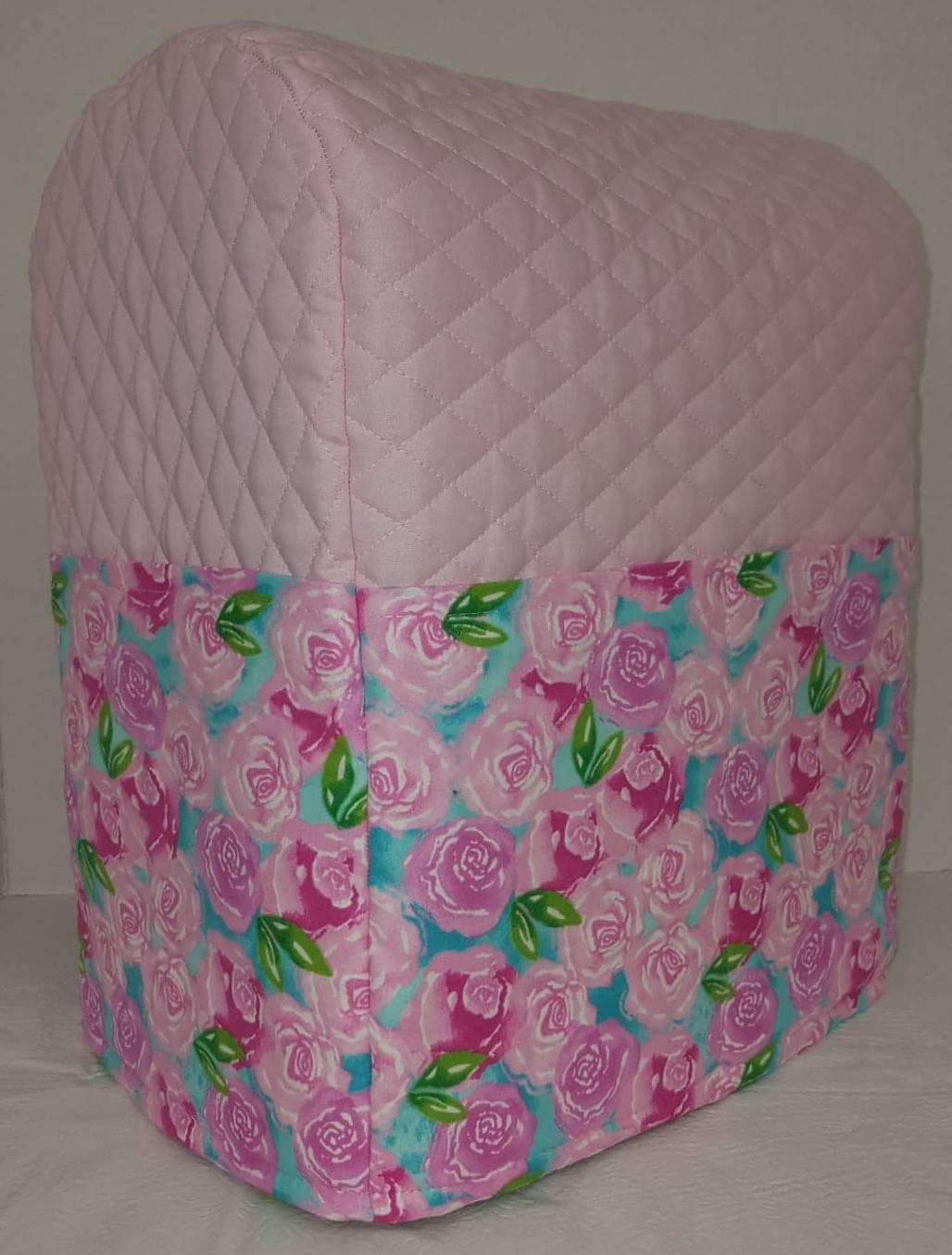 Penny's Needful Things Pink Roses Cover Compatible for Kitchenaid Stand Mixer (Pink, 4.5/5qt Tilt Head)