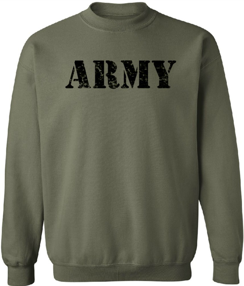 Joe's USA - Vintage ARMY Crewneck Sweatshirts - Army Green - Small
