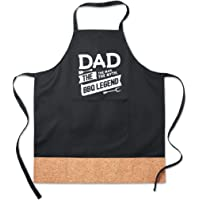 """funny quote""""dad, the myth. the man, the bbq legend""""best fathers day special gift adjustable apron for kitchen and baking"""