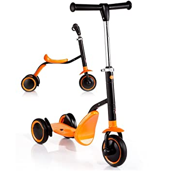 JZM Scooter para Niños Good Boy Baby De Tres Ruedas De Doble ...