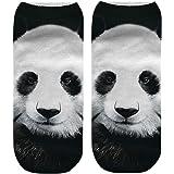 VJGOAL Unisex Moda casual Animal Gigante Panda Tigre 3D Lindo Imprimir Medio Cómodo Respirable Calcetines…