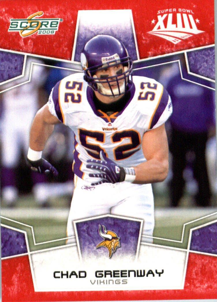 2008スコアレッドSuperbowl – Edition ) NFLフットボールカード(のみ2400 Made ) – # 181チャドグリーンウェイLB – B00B7TVXOA Minnesota Vikings B00B7TVXOA, FAUbon:e868e700 --- harrow-unison.org.uk