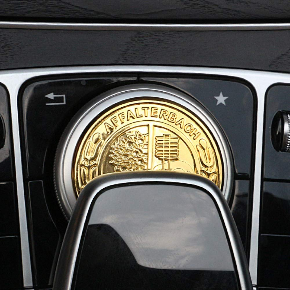 AUTO Pro applicabile a Mercedes-Benz modificati 3D Apple Tree Volante Standard Adesivi New E New C Interior Multimedia manopola Decoration