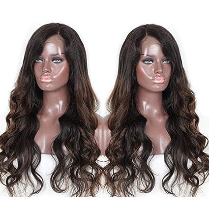 Zana Pelucas brasileño Virgin Remy Humano Pelo Ondulado Lace Front Peluca de pelo humano para los