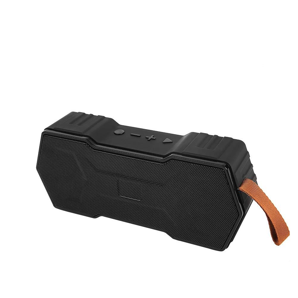 HXDWLKJ Advanced USB Portable Bluetooth Speaker high Sound Quality Heavy bass Speaker trueTWS Wireless Stereo Dual Driver Wireless Speaker Built-in Microphone,TF Card Slot & FM Radio (Black) by AMJISBF