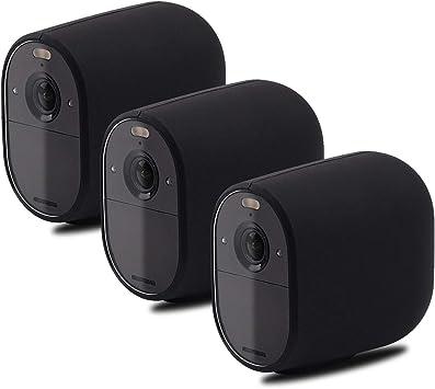 OWSOO Silikonhaut Kompatibel mit Arlo Essential Cameras Sicherheit Wetterfeste UV-best/ändige H/ülle