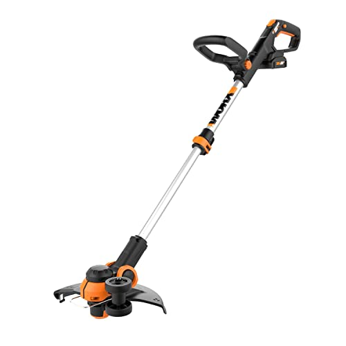 WORX WG163.2 20V PowerShare 12 Cordless String Trimmer Edger, 1 Battery and Charger Included