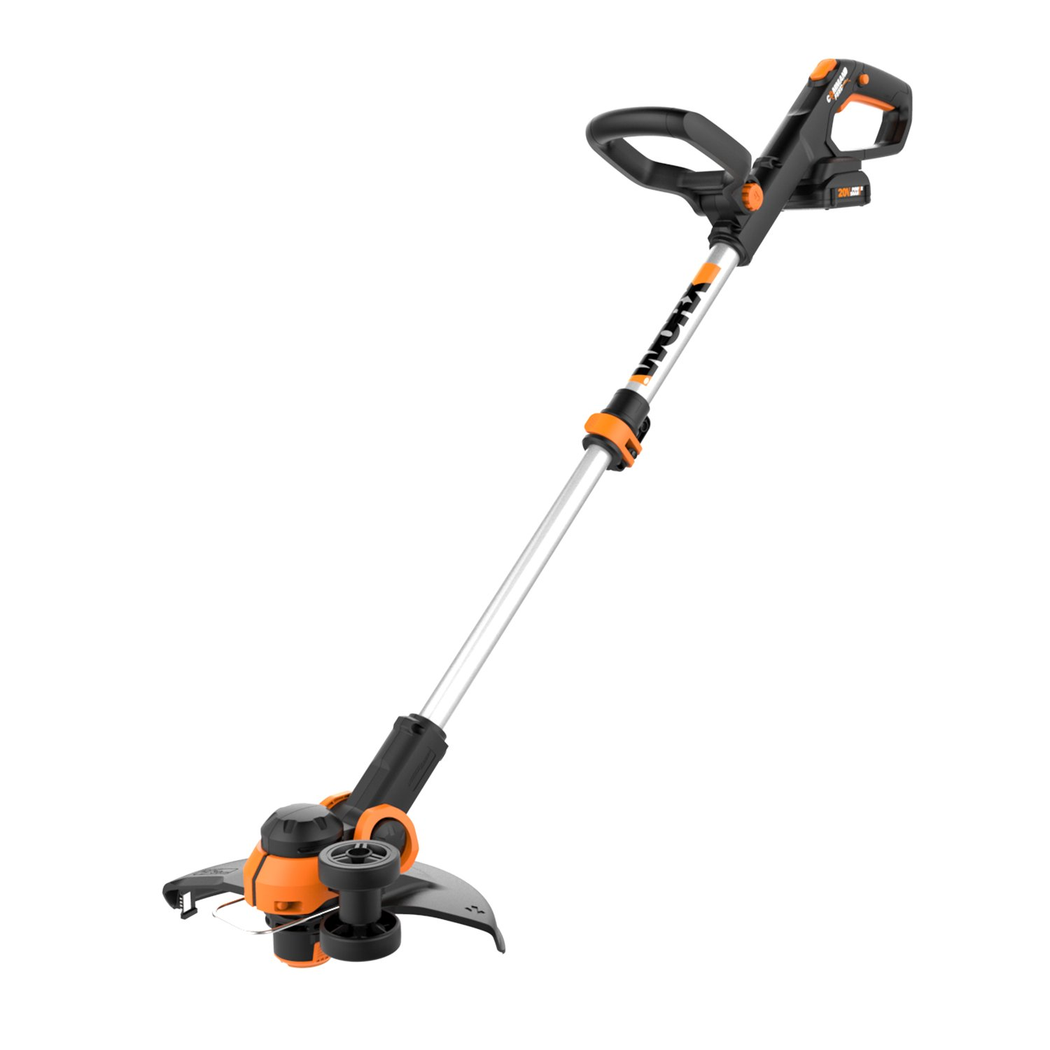 Worx WG163 GT 3.0 20V Cordless Grass Trimmer/Edger with Command Feed, 12'', 2 Batteries and Charger Included