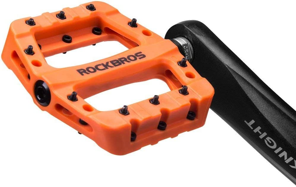 ROCKBROS Pedali per Bici MTB in Nylon ASSE 9//16 Universali Impermeabile Antiscivolo Antipolvere Superficie Larga Leggeri