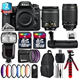 Holiday Saving Bundle for D7500 DSLR Camera + 70-300mm G Lens + AF-P 18-55mm + Flash with LCD Display + Battery Grip + 6PC Graduated Color Filter + 2yr Extended Warranty - International Version