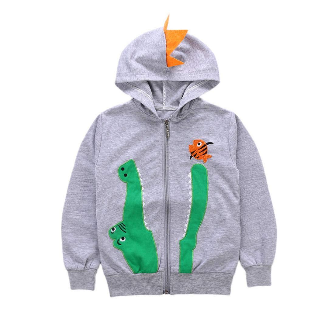 Culater 2018 ❤️❤ Infante Ragazza Ragazzo Halloween Maniche Lunghe Stampa Dinosauro con Cappuccio Top Coat Ourwear ❤️❤ Vestiti per Neonati da Festa MK-1203