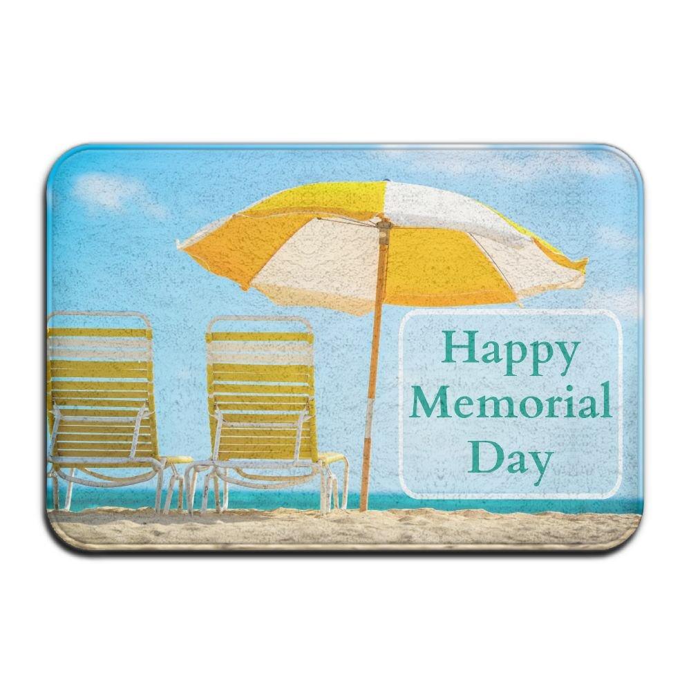 BINGO BAG Happy Memorial Day Indoor Outdoor Entrance Printed Rug Floor Mats Shoe Scraper Doormat For Bathroom, Kitchen, Balcony, Etc 16 X 24 Inch
