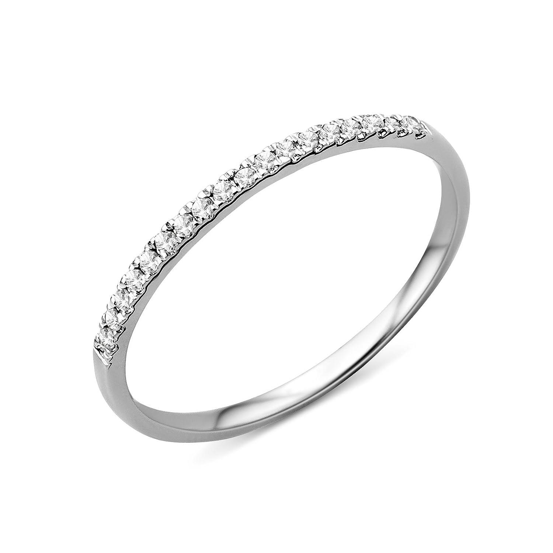 Miore Memoire Damen Ring 375 Weißgold Brillanten 0 09ct MP9011RM