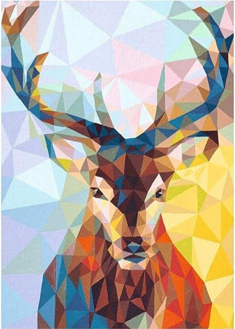 Round Drill Diamond Painting DIY Kit Full Drill Stitch Deer Craft Rhinestone Art