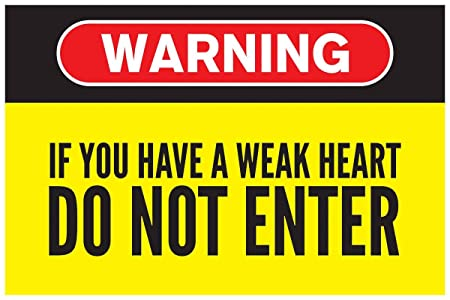 Inephos Warning - Do Not Enter Funny Poster (12 x 18 inch)