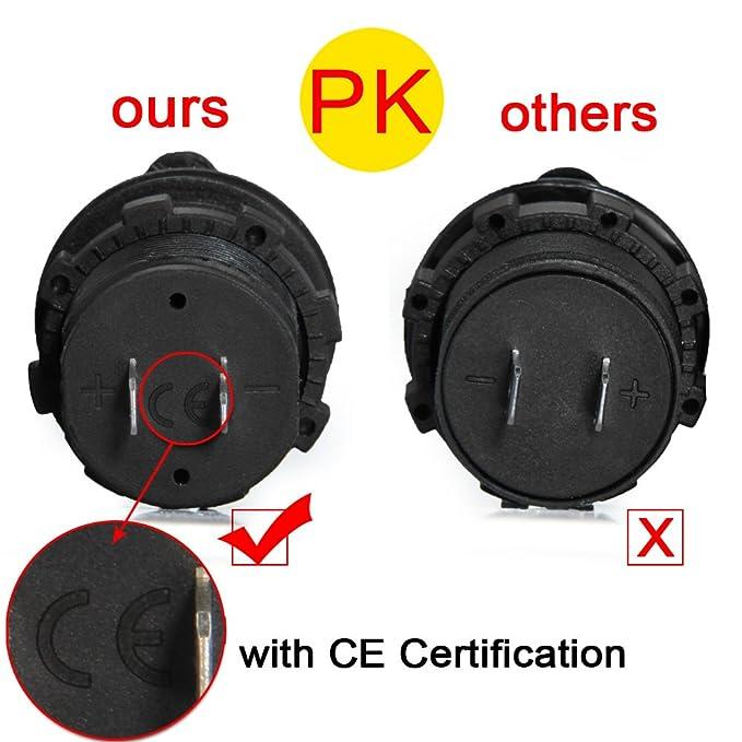CARCHET Adaptador Tipo Mechero Cargador USB Voltímetro ABS Metal para Coche: Amazon.es: Electrónica