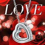 "Pauline & Morgen ""LOVE YOU FOREVER"" Engraved SWAROVSKI ELEMENTS Crystal Heart Women Necklace Bild 6"