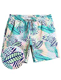 56237d9477 MaaMgic Mens Short Swim Trunks Colorful Swim Shorts Bathing Suits for  Vacation