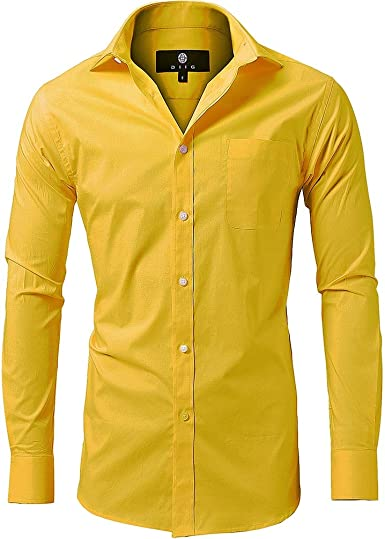 diig - Camisa de Vestir para Hombre (Talla XS, M, 2 y XL), Color Blanco y Rojo