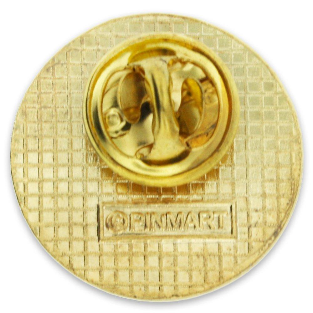 PinMart Gold Plated Outstanding Volunteer Enamel Lapel Pin