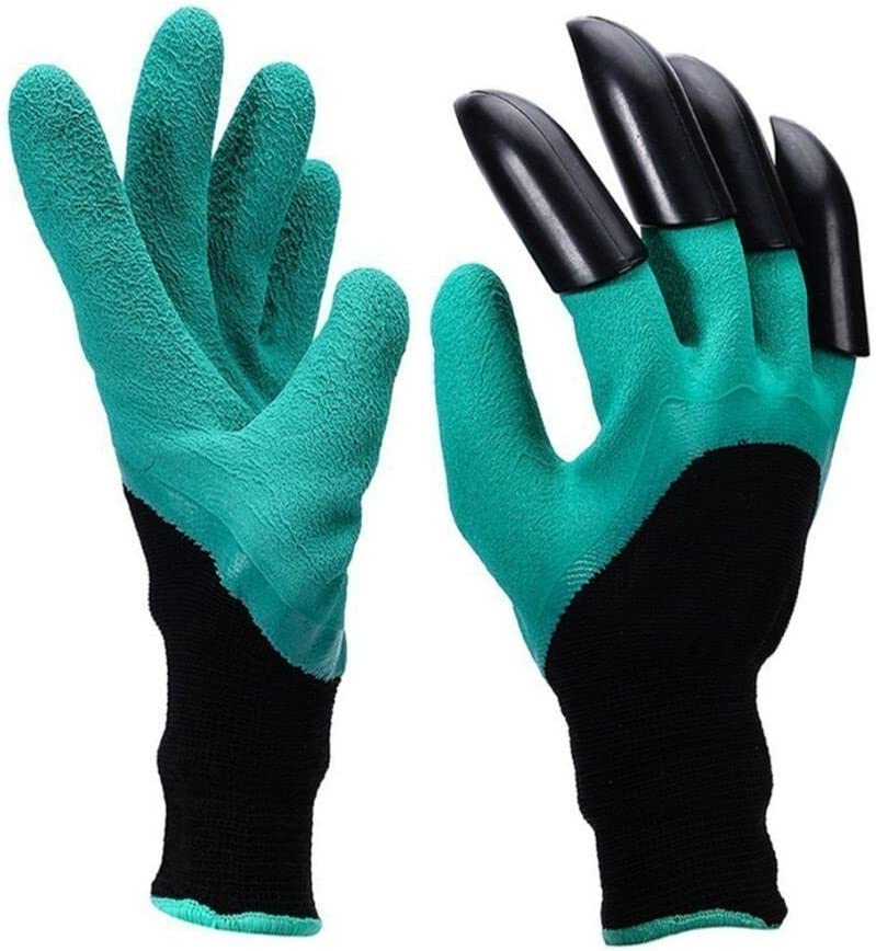 Garden Genie Gloves, Garden Gloves with claws Laborer Gloves for Digging and Planting - As Seen On TV