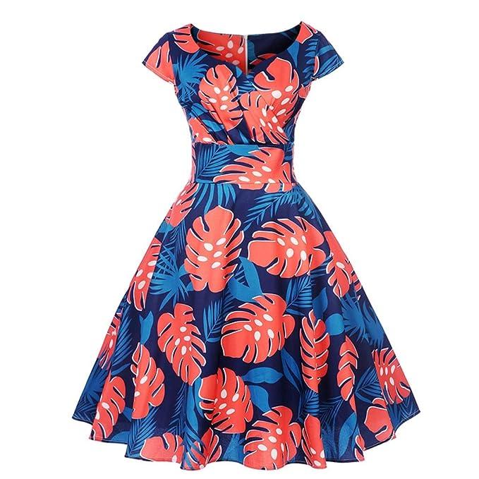 4f389430e4ea Homebaby Vestito Donna Eleganti Ragazza Invernali di Moda Abiti Cerimonia  Corti Manica Corta Estivi Ragazza Cerimonia