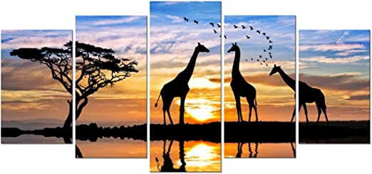 Giraffe Sunset Art Picture Poster Photo Print 5ANML