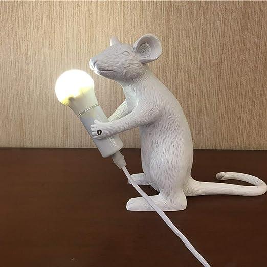 SEJNGF Lámpara De Mesa Lámparas De Ratón De Resina LED Protección ...
