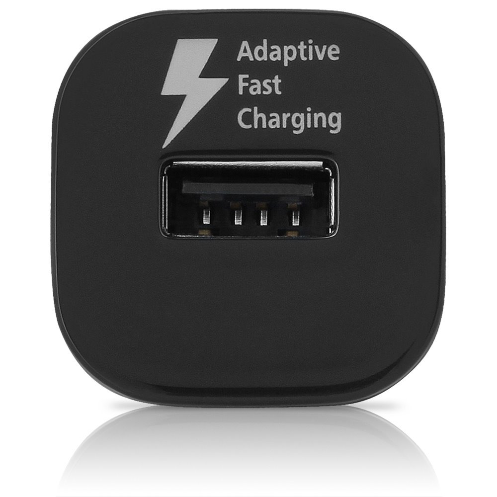 Black OEM Quick Fast Charger Set Compatible with Alcatel Pop 4S Phones USB 2.0 Amp Car Charger + 5 FT Micro USB Cable - 50/% Faster Charging!