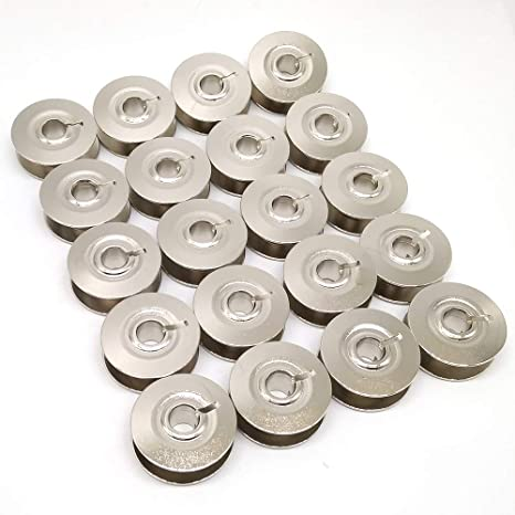 for Pfaff 6250 6252 7510 7530 7550 7560 7562 7570 9033NS//93-040970-54 20 Pcs HONEYSEW Metal Bobbins